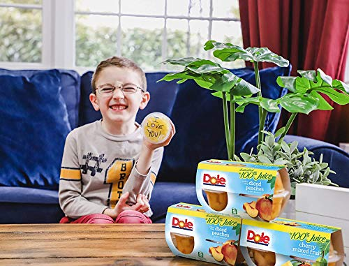 Dole Fruit Bowls, Yellow Cling Diced Peaches in 100% Fruit Juice, 4oz, 36 cups