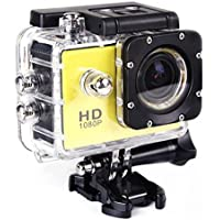 ZTHY 1.5 1080P Full HD Helmet Bicycle Sports DVR 12MP Outdoor Sports Digital Action Camera Car Recorder waterproof SJ4000 (yellow)