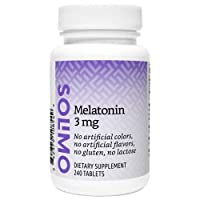Amazon Brand - Solimo Melatonin 5mg, 150 Tablets, Five Month Supply, Helps with...