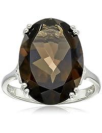 Sterling Silver Oval Gemstone Ring (18x13 mm)