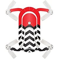 Skin For ZEROTECH Dobby Pocket Drone – Red Chevron | MightySkins Protective, Durable, and Unique Vinyl Decal wrap cover | Easy To Apply, Remove, and Change Styles | Made in the USA