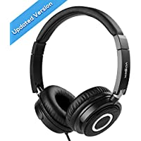 On Ear Headphones with Mic, Vogek Wired Foldable Bass...