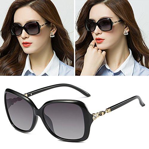 Die Neue sunyan Hochglanz Sonnenbrille rundes Gesicht Sonnenbrille Frau Tide Star)