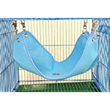 Yosoo Summer Breathable Mesh Cloth Hammock Bed Mat For Small Pet Cat Litter Rabbit Hamster Ferret Guinea Pig (M, Blue)