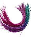 Feather Hair Extensions, 100% Real Rooster Feathers