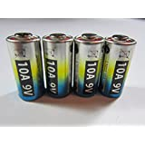 4x 10A 9V L1022 Alkaline Single Use battery For Remote Doorbells Lighters BULK