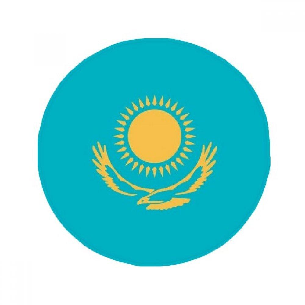 60X60cm DIYthinker Kazakhstan National Flag Asia Country Anti-Slip Floor Pet Mat Round Bathroom Living Room Kitchen Door 60 50Cm Gift