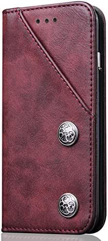 Phone Case Leather Wallet Phone Case with ID Credit Card Slot Holder Kickstand Flip Cover for Galaxy S8 iPhone6/7