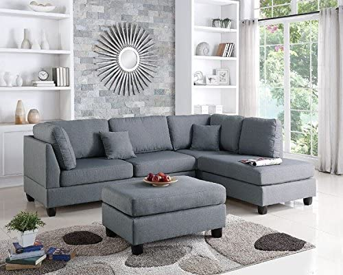 Poundex Upholstered Sofas / Sectionals / Armchairs, Gray