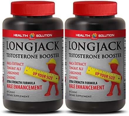 Longjack Male Enhancement Formula Dietary Supplement (Maca Extract, Tongkat Ali Root, L-Arginine, Ginseng) 2 Bottles