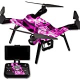 MightySkins Protective Vinyl Skin Decal for 3DR Solo Drone Quadcopter wrap cover sticker skins Pink Flames
