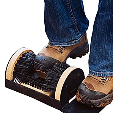 Amdirect Mud Dirt Brush Cleaner Boots Shoes Sneakers Floor Mounted House