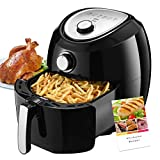 Habor Air Fryer, 5.8 QT Electric Hot Air Fryer, Oil-Less Air Cooker with Hot Air Circulation, Time & Temperature Control, Dishwasher Safe Non-Stick Basket (Recipe Book Included)