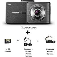 Thinkware X550 32GB 1080P HD Dash Cam With LCD plus Extra Power Harness (Bundle: 2 items)