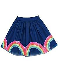 Sunny Fashion Girls Skirt Blue Heart Sequins Sparkling Tutu Dancing Size 2-12