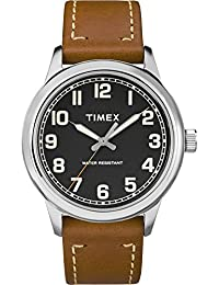 Men's TW2R82100 New England Brown/Black Leather Strap Watch