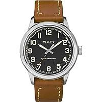 [Patrocinado] Timex Men 's New England reloj, Marrón/Negro