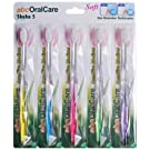 abcOralCare, Shaha 5 toothbrush, New Generation US Patented, Non Nylon, Tapered, Soft and Ultra fine bristles –– Deep penetration pack of 5