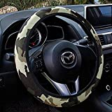 "Rayauto Standard 15"" 38cm Stretchy Camo Neoprene Car Steering Wheel Cover Against Cold and Heat"