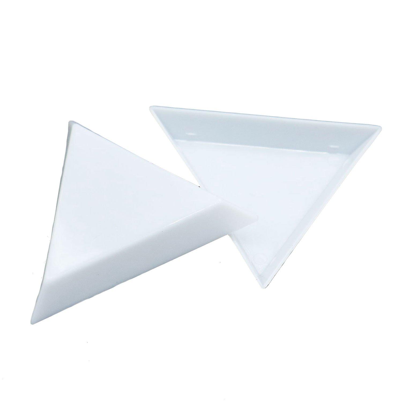 HUELE 20 PCS Bead Sorting Trays Triangle Green Plastic 4336813177