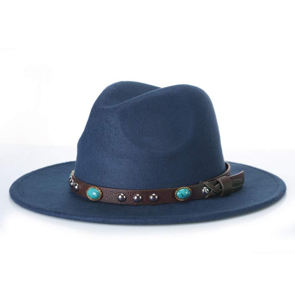 Unisex Wedding Top Hats Fashion Pork Pie Hat Felt Wide Brim Fedora Gambler Hat