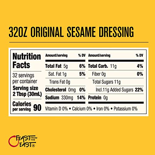 Feast From The East Sesame Dressing | Original, 32 Fl Oz