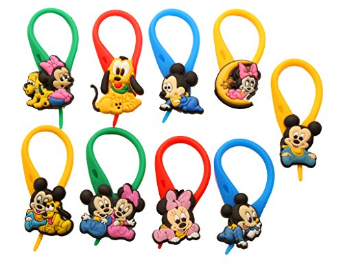 AVIRGO 9 pcs Colorful Soft Zipper Pull Charms for Backpackt Set # 74-4 - Max Goofy Costume