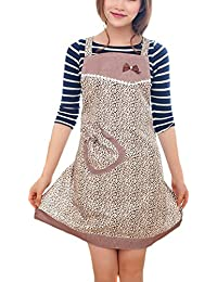 Access Sealike Cute Bowknot Floral Grid Ruffles Apron Cooking Cook Apron for Women Girls with a Stylus Coffee compare