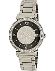 Michael Kors MK3331 Caitlin Crystal Pave Glitz Pearl Womens Watch