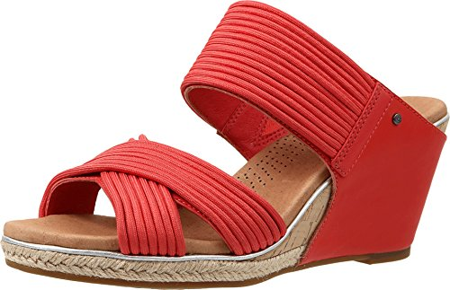 UGG Women's Hilarie Cayenne Leather Sandal 7.5 B (M)