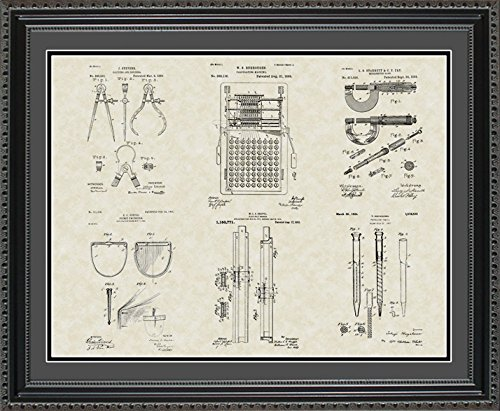 Patent Art Poster - Engineering Tools - Engineer Manufacturing Framed Print