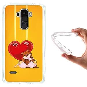 Funda LG G4 Stylus, WoowCase [ LG G4 Stylus ] Funda Silicona Gel Flexible Osito Malvado y Corazón, Carcasa Case TPU Silicona - Transparente