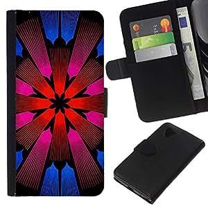 All Phone Most Case / Oferta Especial Cáscara Funda de cuero Monedero Cubierta de proteccion Caso / Wallet Case for LG Nexus 5 D820 D821 // Church Floral Pattern Purple Pink