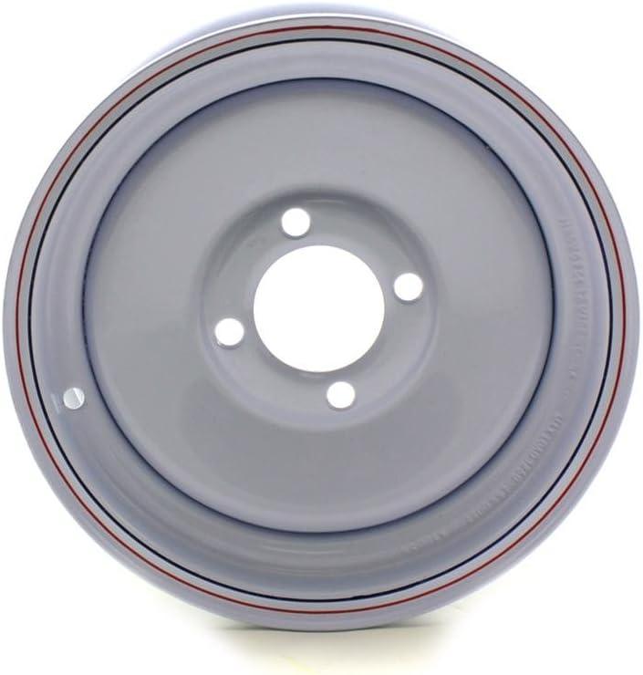 JG 12X4 4//4 White Solid Trailer Wheel