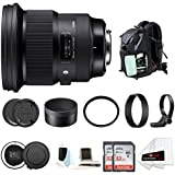 Focus Camera Sigma 105mm F1.4 Art DG HSM for Nikon With Sigma USB dock & Two 32GB SD Card Advanced Kit