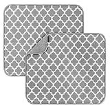 2 Pack Dish Drying Mats for Kitchen, Microfiber Dish Drying Rack Pad, Kitchen