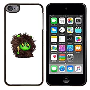 Planetar® ( Monstruo peludo Juguete lindo de la historieta ) Apple iPod Touch 6 6th Touch6 Fundas Cover Cubre Hard Case Cover
