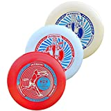 Wham-O Ultimate Frisbee 175g, 3 Pack, One of Each Color