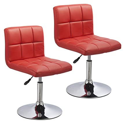Amazoncom Duhome 2 Pcs Contemporary Dining Chairs Swivel Height