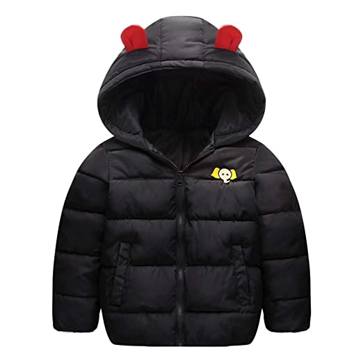 2dd8df51e5df Amazon.com  WARMSHOP Children Boys Girls Hooded Outerwear