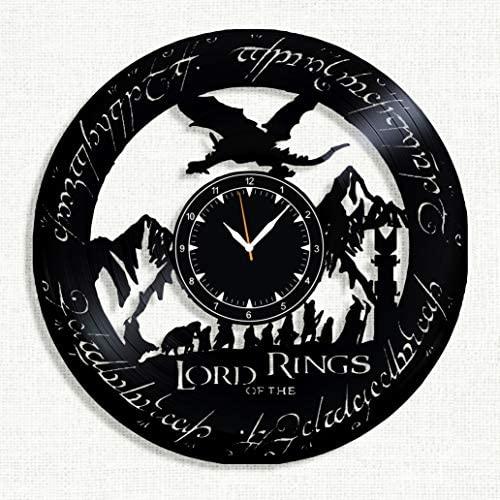 Lord of The Rings Vinyl Clock – Lord of The Rings Wall Clock – Best Gift for Fans Lord of The Rings – Original Wall Home Decor