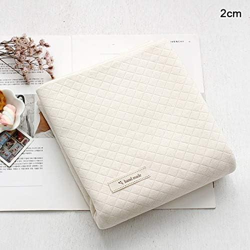 Tela de punto de algodón orgánico macizo de The Yard 160 cm de ancho MR Vanilla 2cm Quilted: Amazon.es: Hogar