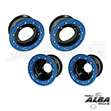 Honda TRX 450R TRX 400EX Beadlock Set of 4 Wheels Rims Rear 9x8 Front 10x5 Black / Blue