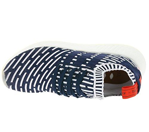 adidas Zapatillas NMD_R2 PK Azul/Rojo/Blanco