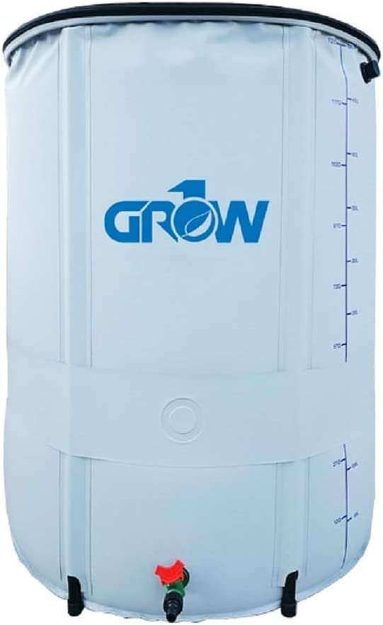 GROW1 Collapsible Reservoir Water Tank Storage Barrel (265 Gallon)