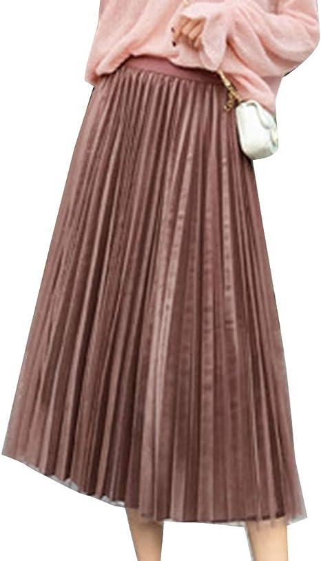 Faldas Largas Mujer Talle Alto Elegantes Otoño Invierno Plisada ...