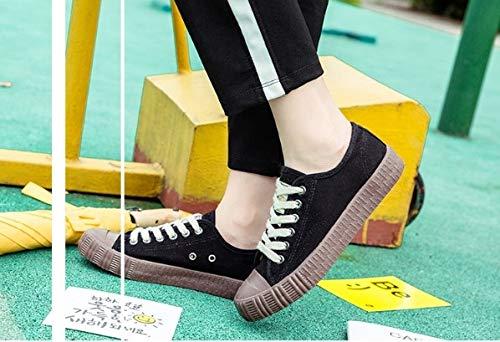Para Deporte Zapatillas Ysfu Lona Planos Y Dibujos Otoño Zapatos De Animados Con Primavera Deportivos Casual Cordones Mujer zRqFEdwq