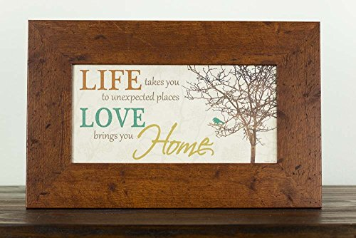 Life Takes You To Unexpected Places Love Brings You Home Framed Art Decor 10x16'' by Summer Snow (Image #3)