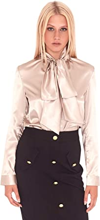 UNIQUE 21 Blusa de satén para Mujer, Estilo Informal, para el día de la Noche, para el Trabajo, la Oficina, Blusas: Amazon.es: Ropa y accesorios