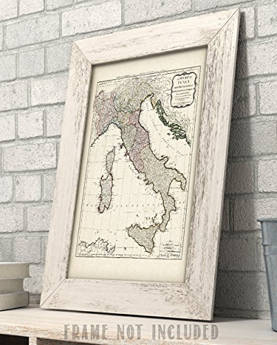 1794 Italy Map Art Print - 11x14 Unframed Art Print - Great Home Decor for Italians